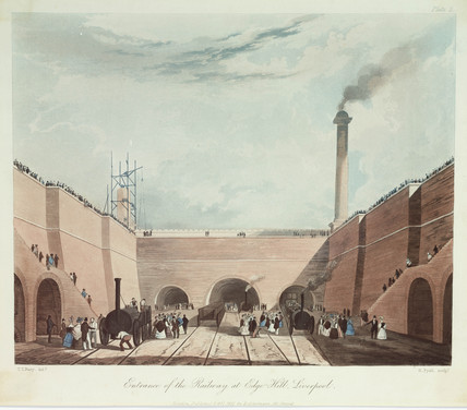 'Entrance of railway at Edge Hill', 1831.