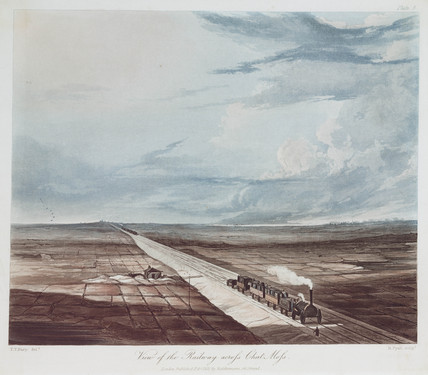 'View of the railway acros Chat Mos', 1831.