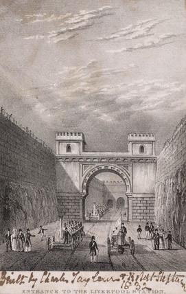 Moorish Arch at Edge Hill, Liverpool & Manchester Railway, 1830.