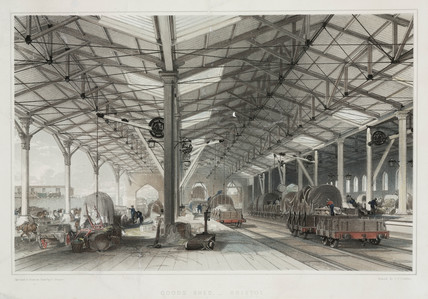 Goods Shed at Bristol, 1846.