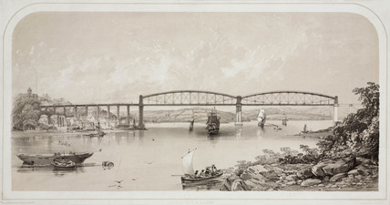Saltash Bridge, Cornwall, 1859.