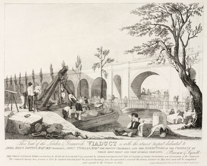 'View of the London and Greenwich Viaduct', 1835.