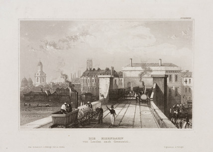 'The Railway from London to Greenwich', 19th century.