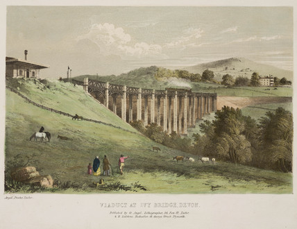 'Viaduct at Ivy Bridge, Devon', mid-19th century.