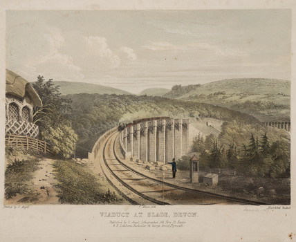 'Viaduct at Slade, Devon', mid-19th century.