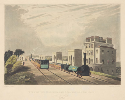 'View of Manchester and Liverpool Railroad taken at Newton 1825'.