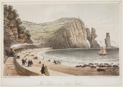 'The Parson and Clerk Rock', Devon, 1831.