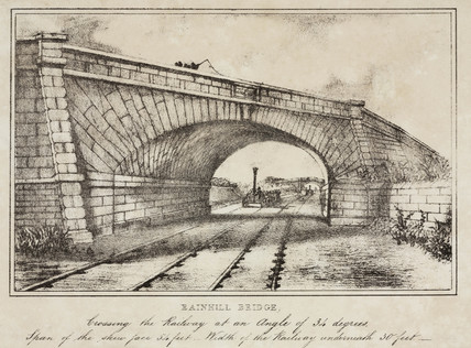 Rainhill Bridge, Chat Mos, near Liverpool, c 1830s.