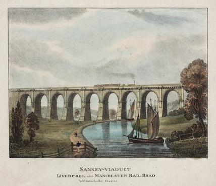 Sankey Viaduct, c 1830s.
