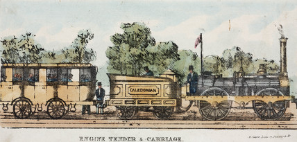 'Engine Tender & Carriage', mid 19th century.