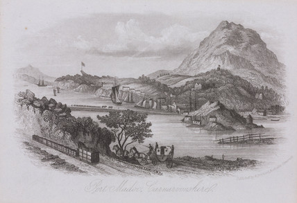 'Port Madoc, Carnarvonshire', 19th century.