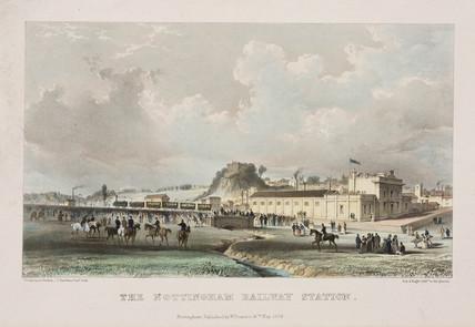 'The Nottingham Railway Station', 1839.