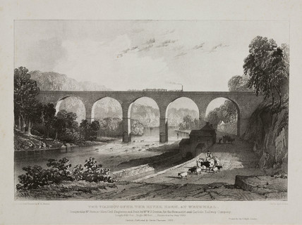 'The Viaduct over the River Eden at Wetherall', 1835.