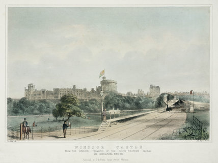 Windsor Castle from the Windsor Terminus of the SWR, 1851.