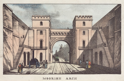 'Moorish Arch', at Edge Hill, Liverpool & Manchester Railway, 1833.