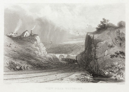 'View near Whitmore', 19th century.