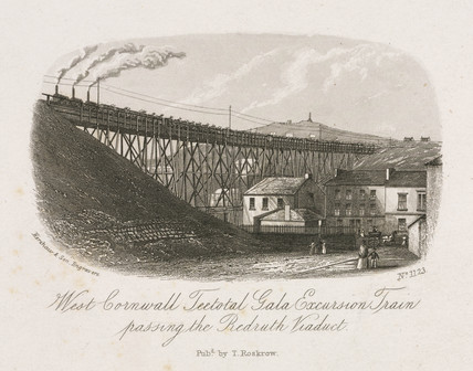 'West Cornwall Teetotal Gala Excursion Train...', 19th century.