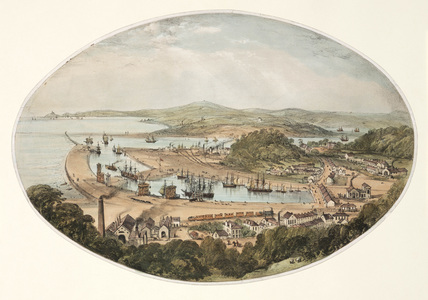 Briton Ferry Railway and Dock, South Wales, 1852.