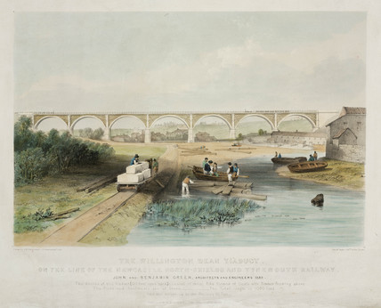 'The Willington Dean Viaduct', 1838.