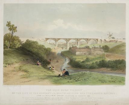 'The Ouse Burn Viaduct', near Newcastle Upon Tyne, 1838.