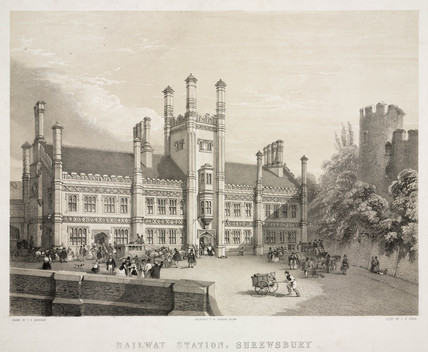 Shrewsbury Station, Shropshire, 1847.