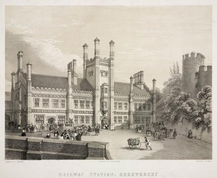 Shrewsbury Station, Shropshire, 1847.