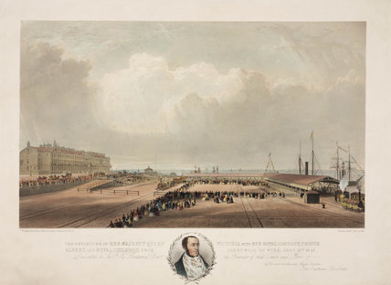The departure of Queen Victoria from Fleetwood on Wyre, 21 September 1847.