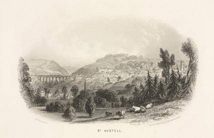 'St Austell', Cornwall, 1860.
