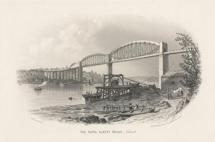 'The Royal Albert Bridge- Saltash', 19th century.