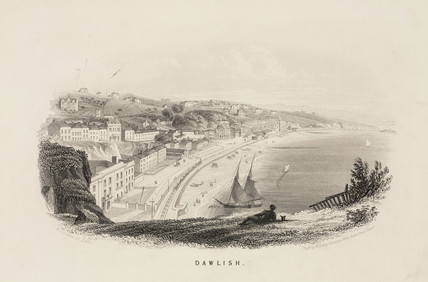 A view of Dawlish, Devon, 19th century.