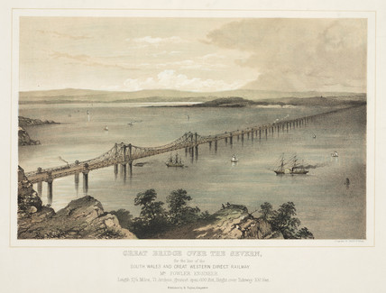 'Great Bridge over the Severn', 1850.