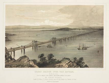 'Great Bridge over the Severn', 1850.