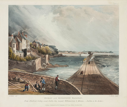 A view of the Dublin & Kingstown Railway from Blackwork, 1834.