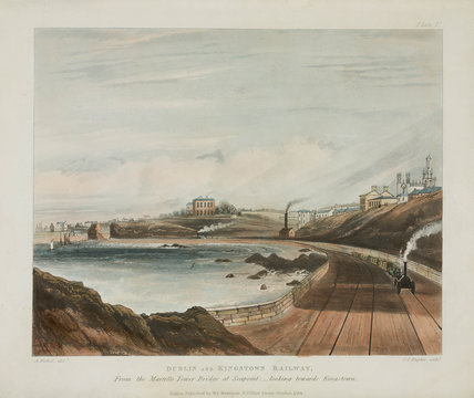 View of the railway from the Martello Tower at Sea Point, Ireland, 1834.