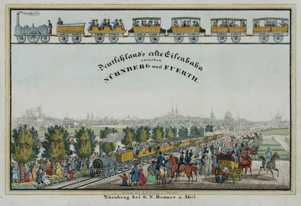 'Germany's first railway between Nuremburg and Fuerth', Germany, 1835.