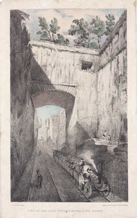'View of the Deep Cutting in The Olive Mount', near Liverpool, c 1830s.