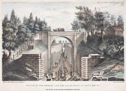 'Sketch of the Bridges and Excavation of Olive Mount', 1832.