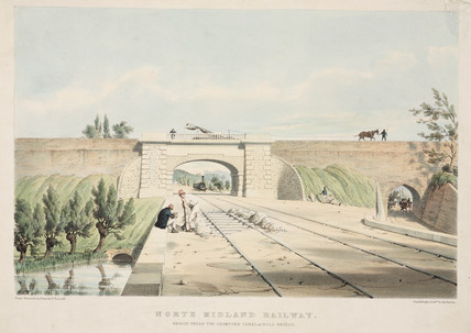 'Bridge under Cromford Canal', 19th century.