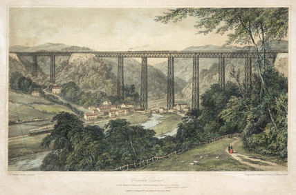 Crumlin Viaduct, Taff Vale, Rhondda Cynon Taff, Wales, 19th century.