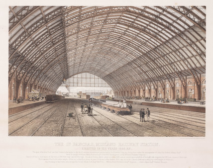 'St.Pancras Station', London, 19th century.