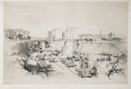 'Building Retaining Wall, near Park Street, Camden Town', 1836.