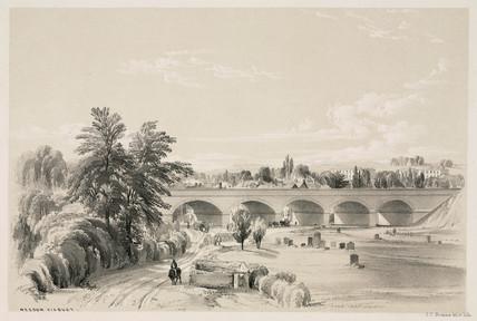 Weedon viaduct, Northamptonshire, 1839.