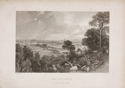 'The potteries from Basford', Staffordshire, 19th century.