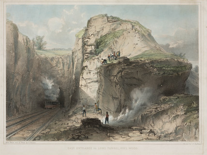'The east entrance to Long Tunnel, Fox's Wood', Great Western Railway, 1846.