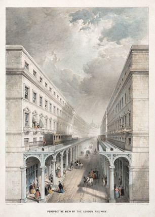 'Perspective view of the London Railway', late 19th century.