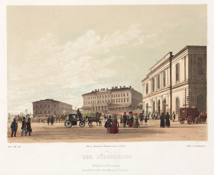 Vienna South Railway Station, mid-19th century.