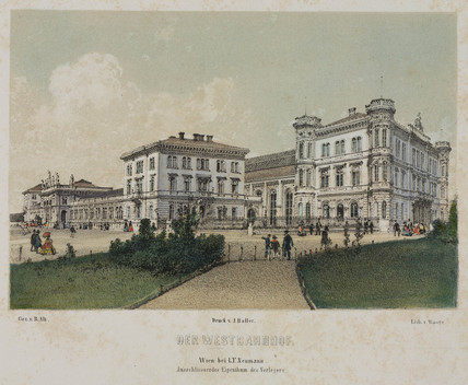 Vienna West Railway Station, 19th century.