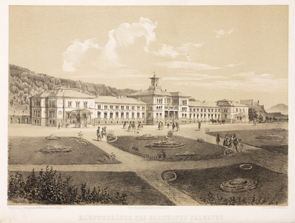 Head railway buildings, Salzburg, Austria, mid 19th century.