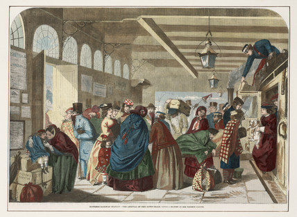 'Hastings Railway Station- The Arrival of the Down-Train', 1859-1879.