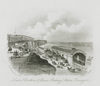 'London, Chatham and Dover Railway Station, Ramsgate' Kent, 19th century.